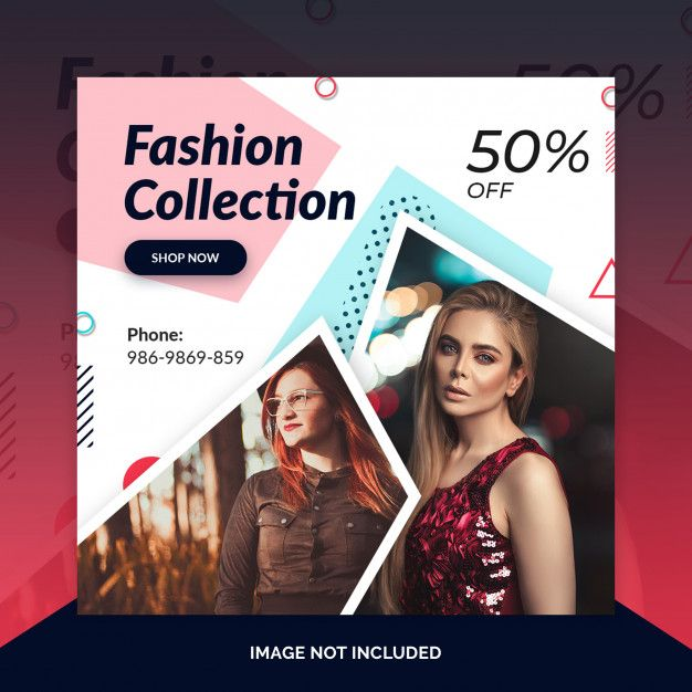Fashion Retail Sale Flyer Free Psd Template: Fashion Store Instagram Post, Square Banner Or Flyer