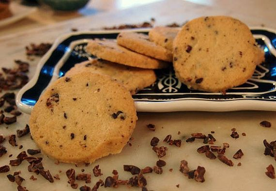 Cacao Nibs Shortbread Cookies by dorianoconnell on Etsy, $12.50