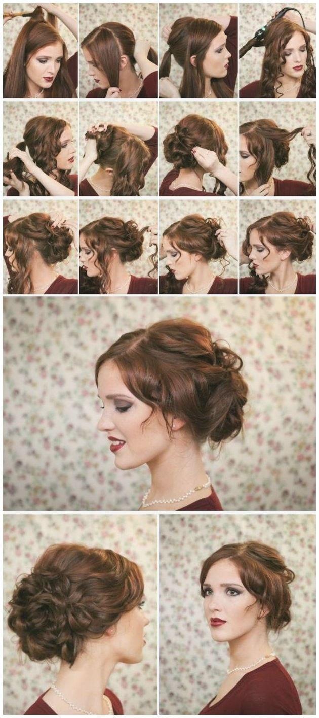 Dirndl hairstyles medium length hair tutorial fresh festive updo