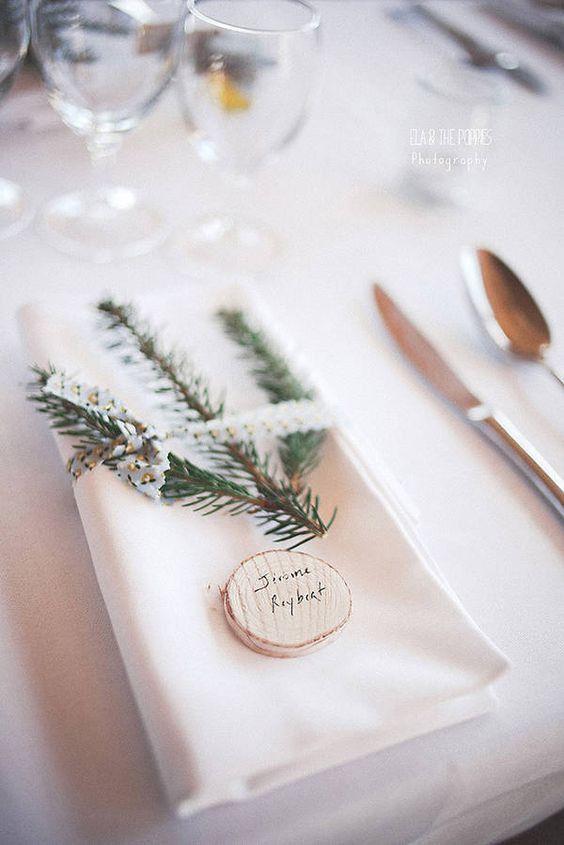 Mariage d'hiver: les 20 plus belles décorations repérées sur Pinterest   – Decoration salle mariage