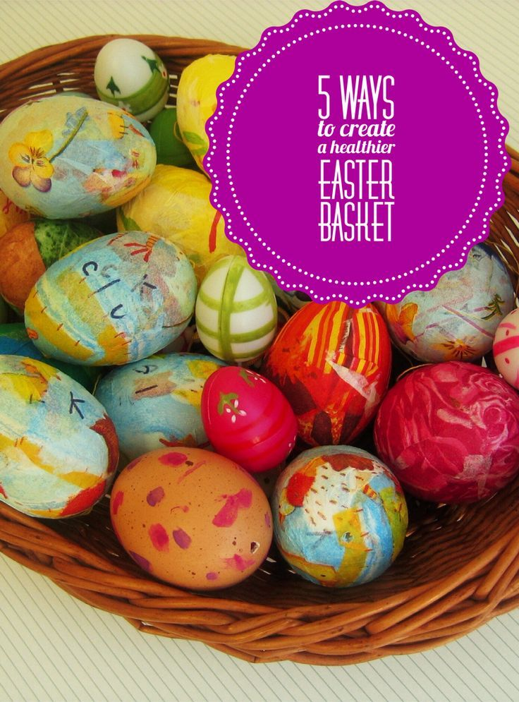 Looking for ways to create healthier Easter baskets without giving up on your favorite colors and traditions of the season? Check out these five easy tips!