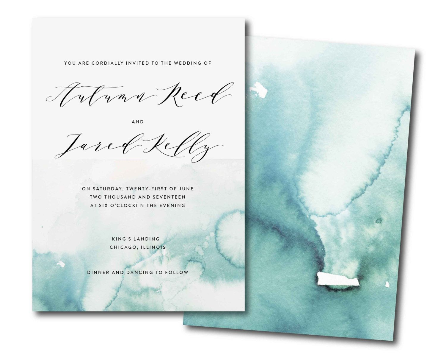 Watercolor Splash Printable Invitation Watercolor Wedding Etsy Watercolor Invitations Watercolor Wedding Invitations Calligraphy Wedding Invitation