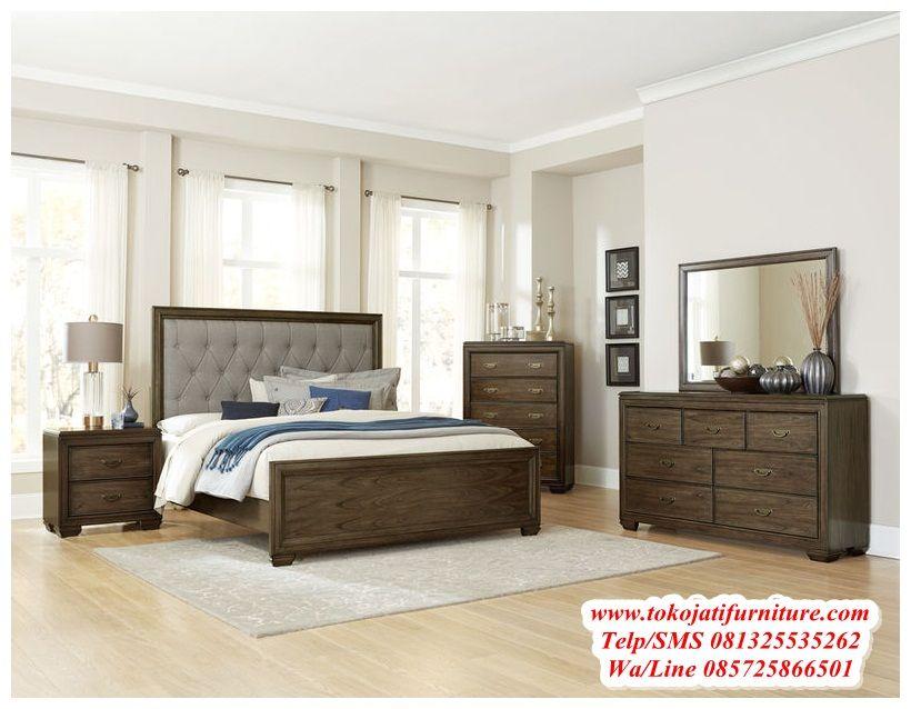 Desain set tempat tidur jati minimalis desainer