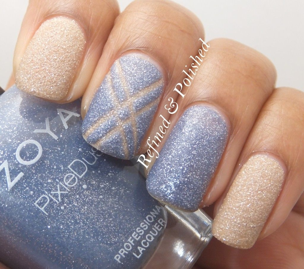 Refined and Polished - Nail art with Zoya PixieDusts in Nyx and ...