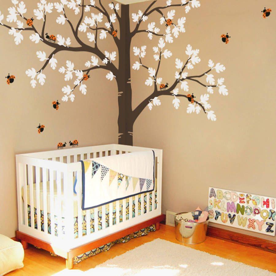 Split Tree With Ladybirds | Nursery, Bedrooms and Walls