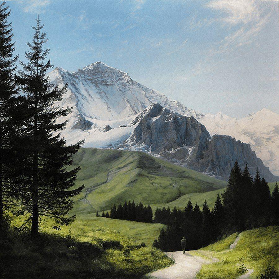 самшит рисуем горы фото продолжительного роста
