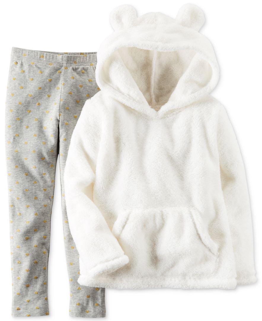 786afaed048c5c Carter's 2-Pc. Faux-Fur Animal-Ear Hoodie & Leggings Set, Toddler Girls  (2T-4T)