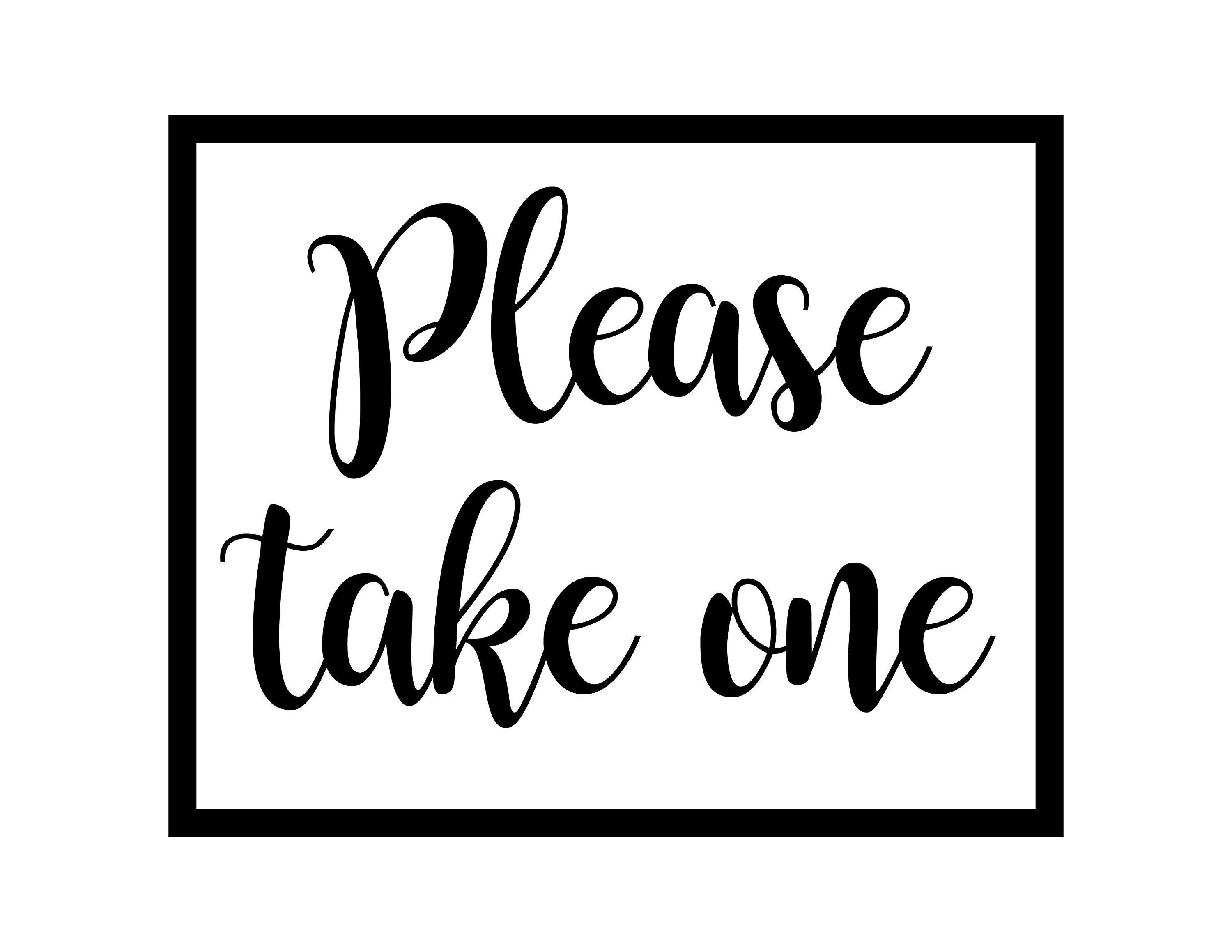 picture regarding Please Take One Sign Printable titled Enthusiastic towards proportion this merchandise towards my #etsy keep: Remember to Get