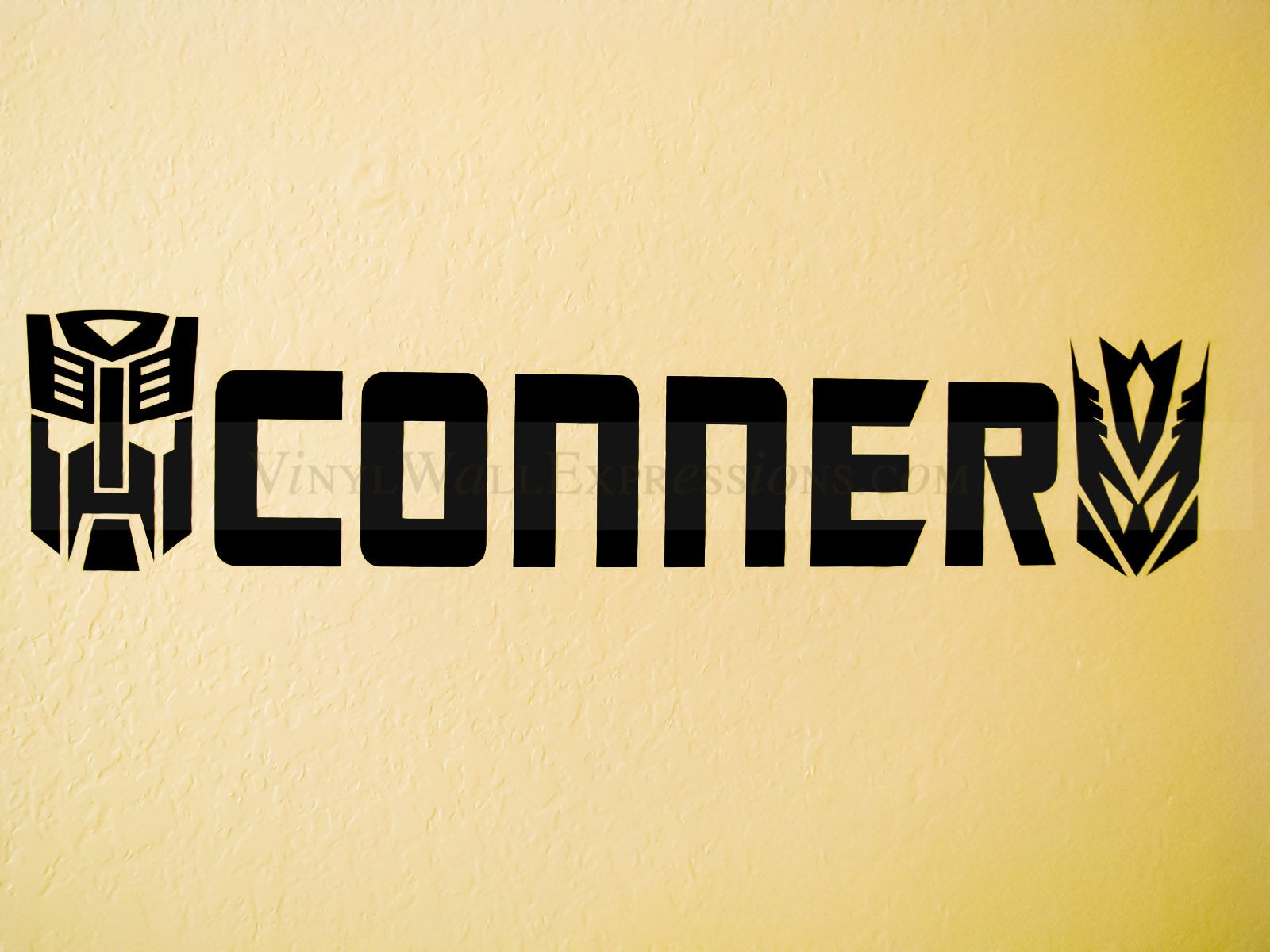 Transformers Boys Vinyl Wall Decor - Custom Name: Conner | Price ...