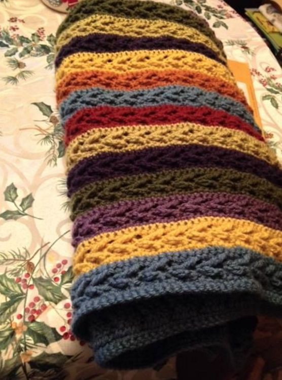 Take heart, crocheters, the arrow stitch is a simple stitch ...