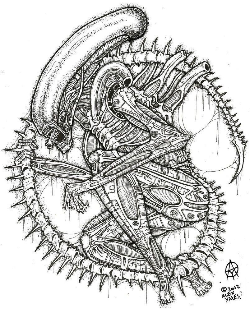 The xenomorph by ayillustrations on deviantart