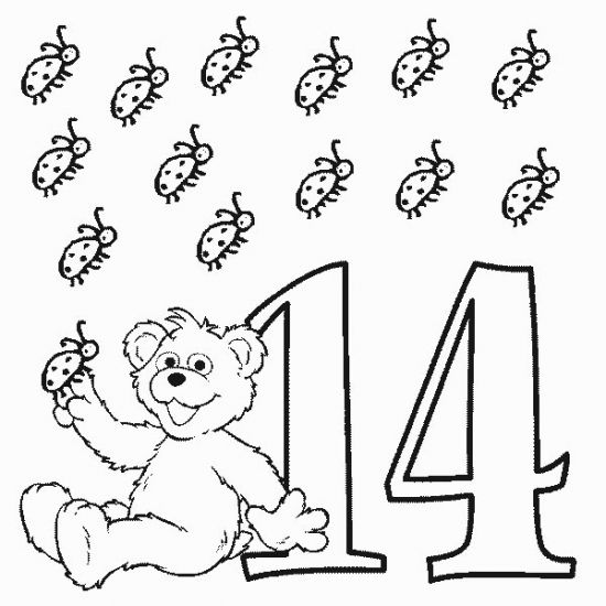 Free Printable Number Coloring Pages For Kids Sesame Street