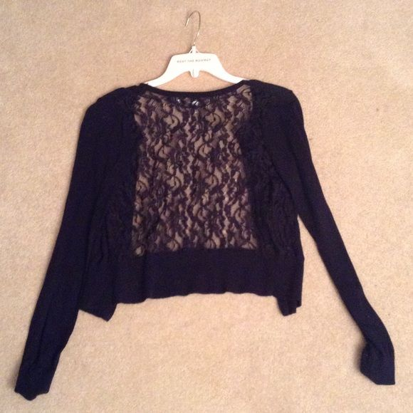Black Lace Back Cardigan Black Lace Back Cardigan - size small LC ...