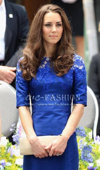 Kate Middleton Dress Embroider party formal
