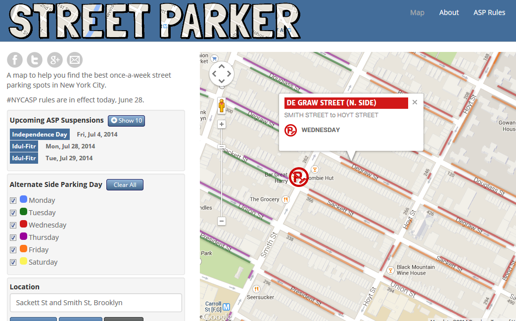 street parking in nyc map Street Parker Helpful Parking Map Nyc Map Nyc Map