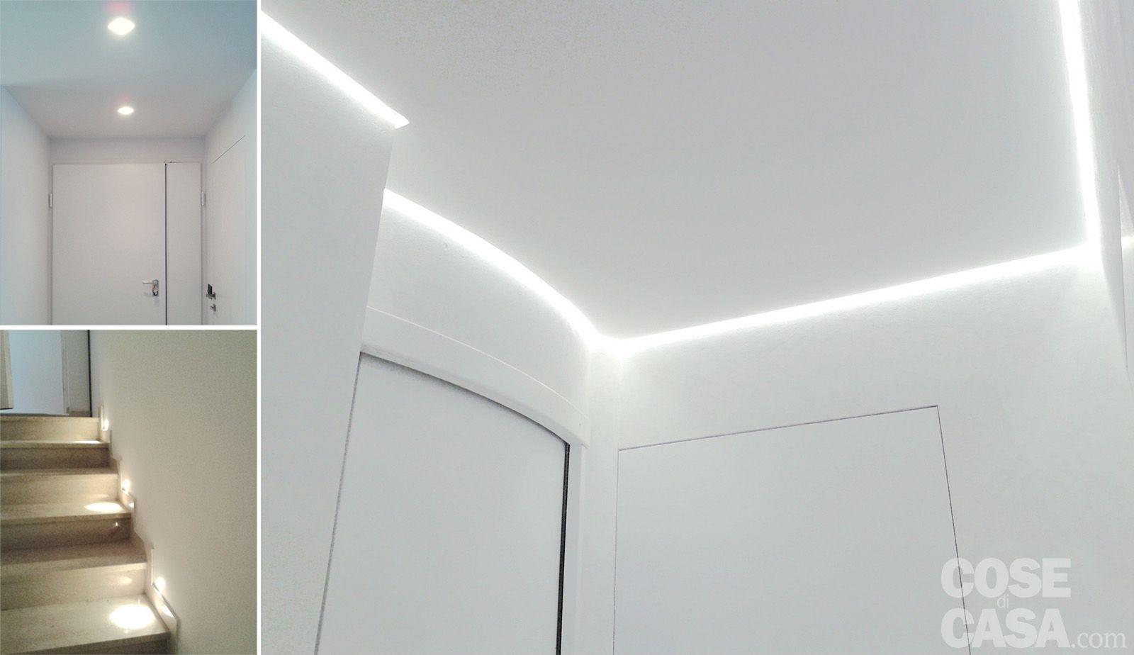 foto1A__Illuminazione con striscia al led lungo il perimetro del corridoio  Home  Pinterest ...