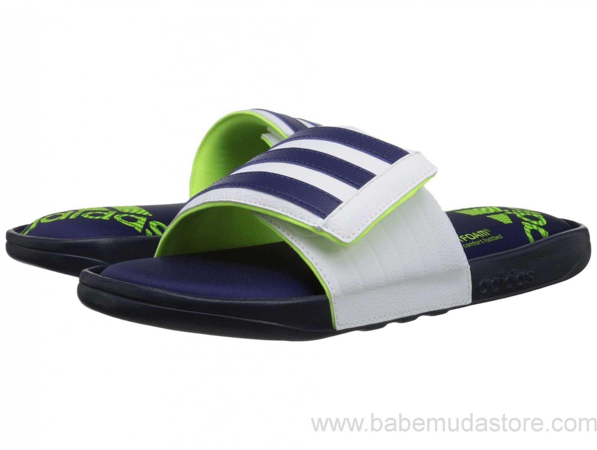 Mens Sandals adidas Adissage Comfort FF Collegiate Navy/Midnight Indigo/White