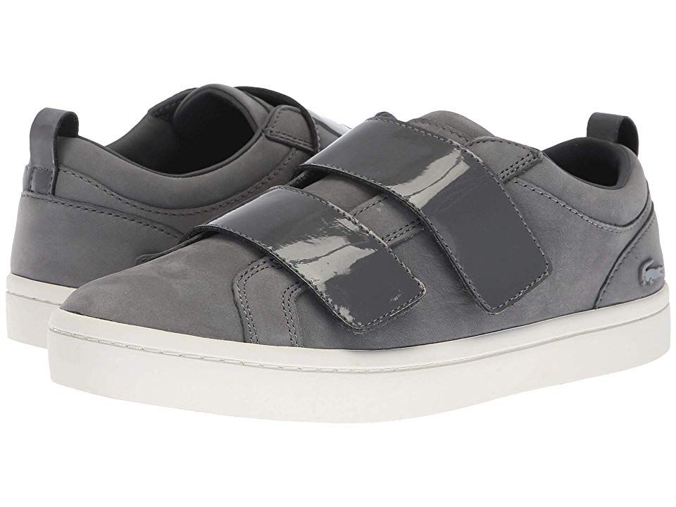 5bb1d582d41812 Lacoste Straightset Strap 318 1 (Dark Grey Off-White) Women s Shoes. Be  casually classic at the forecourt with the Lacoste Straightset Strap 318 1  sneaker.