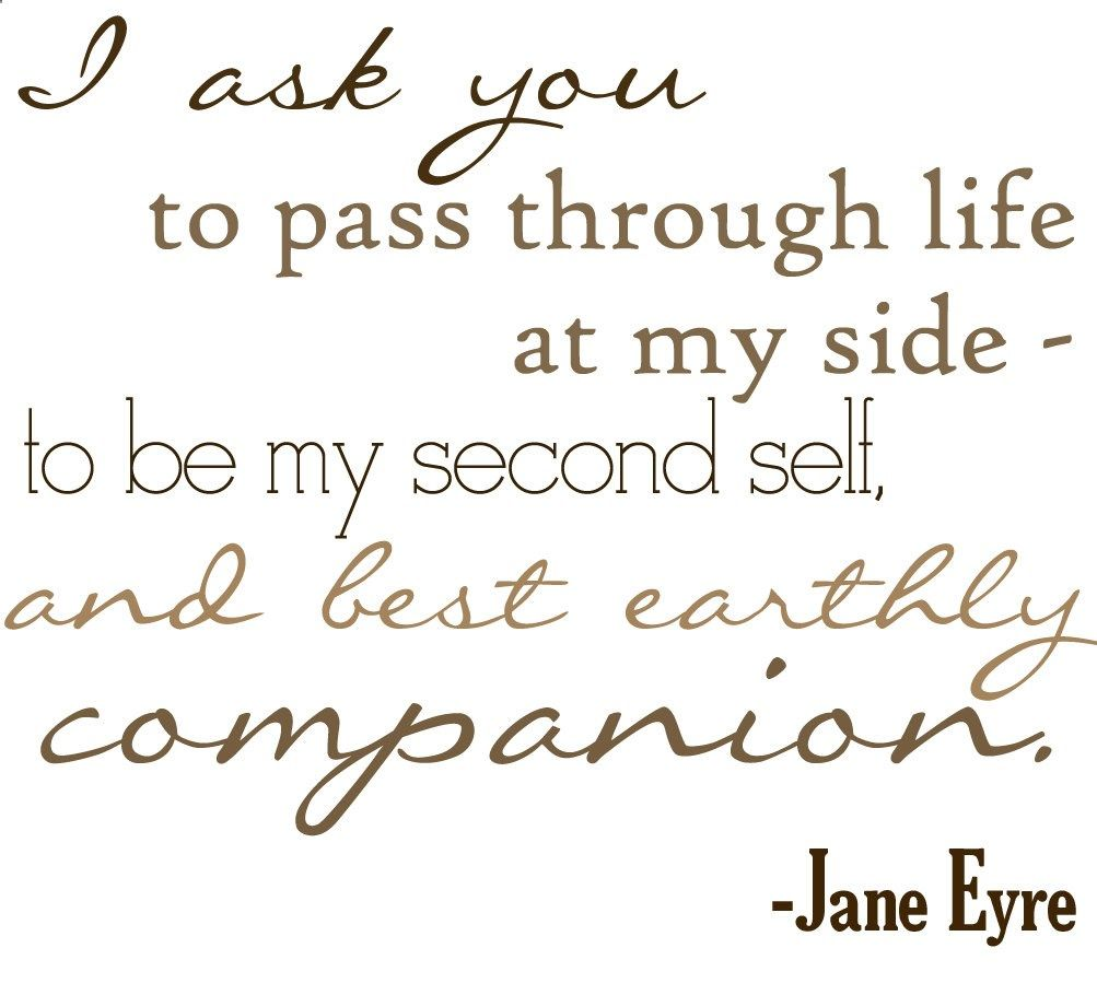 Quotes Jane Eyre Digital Print  Jane Eyre Pass Through Life At My Side Quote