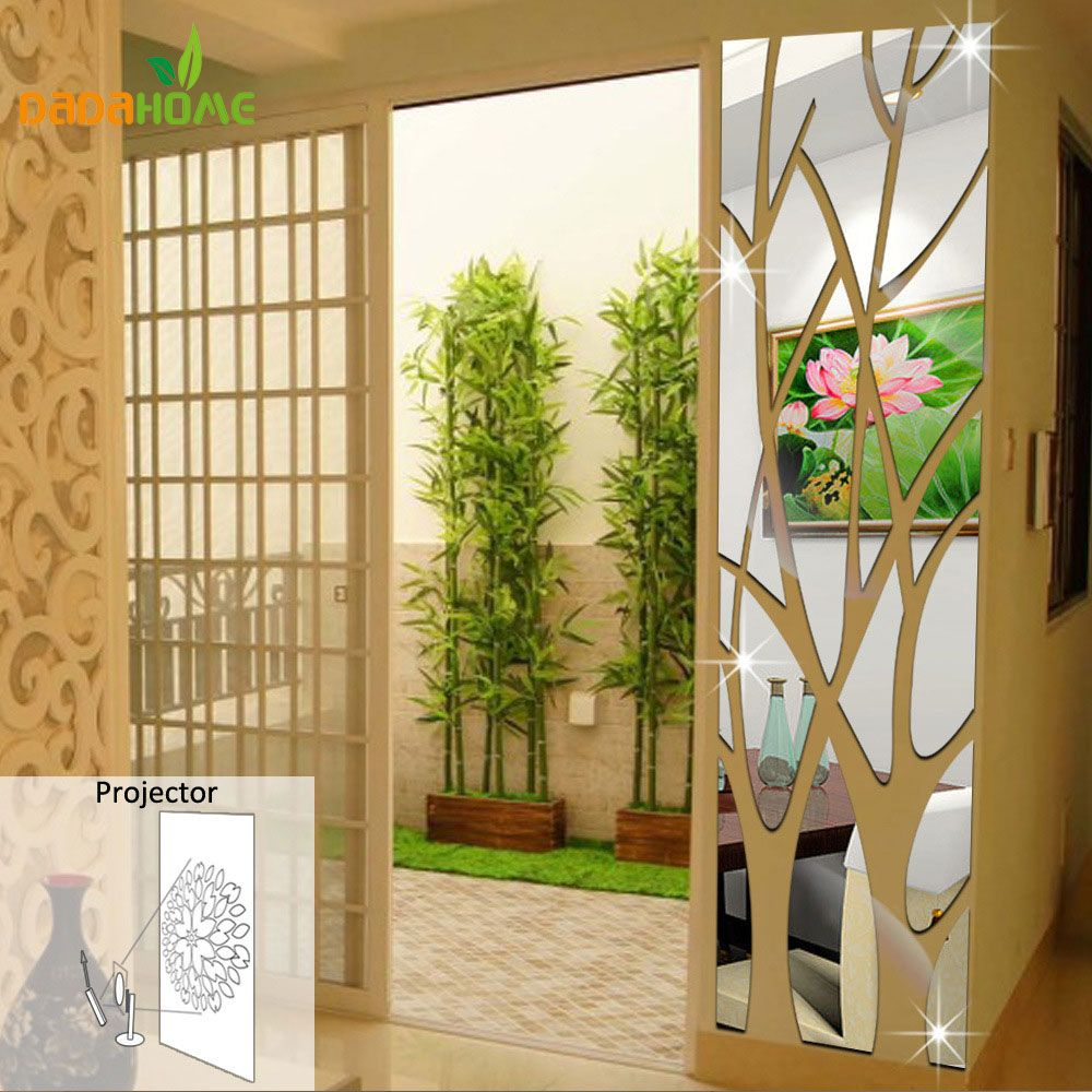DIY Splice Mirror Wall Stickers House Decoration Adesivos Parede ...