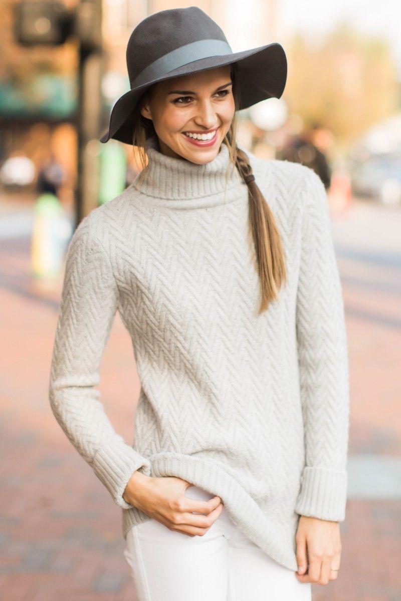 Freezing Point Grey Turtleneck Sweater at reddressboutique.com ...