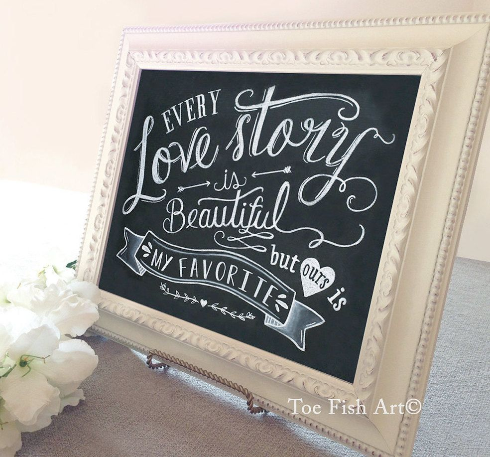 Word Signs Wall Decor Every Love Story Is Beautiful Print  Wedding Ceremony Sign