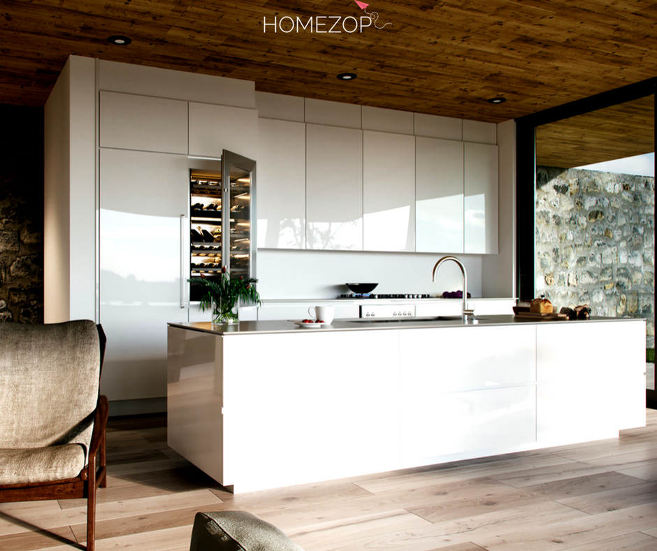 this urbane parallel modular kitchen is super chic and edgy the mirror like sheen combined with on kitchen interior parallel id=62948