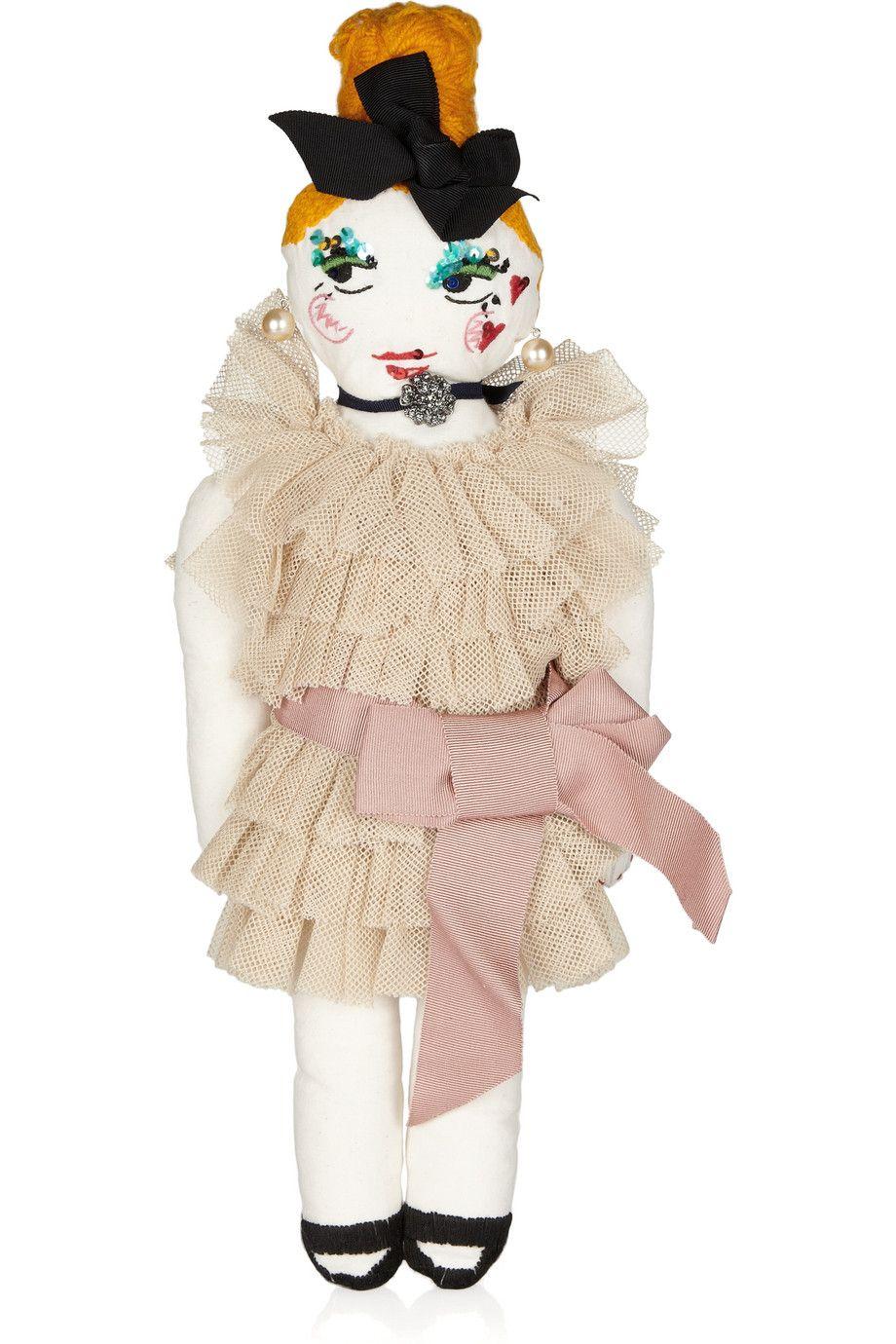 #Lanvin Embellished cotton doll