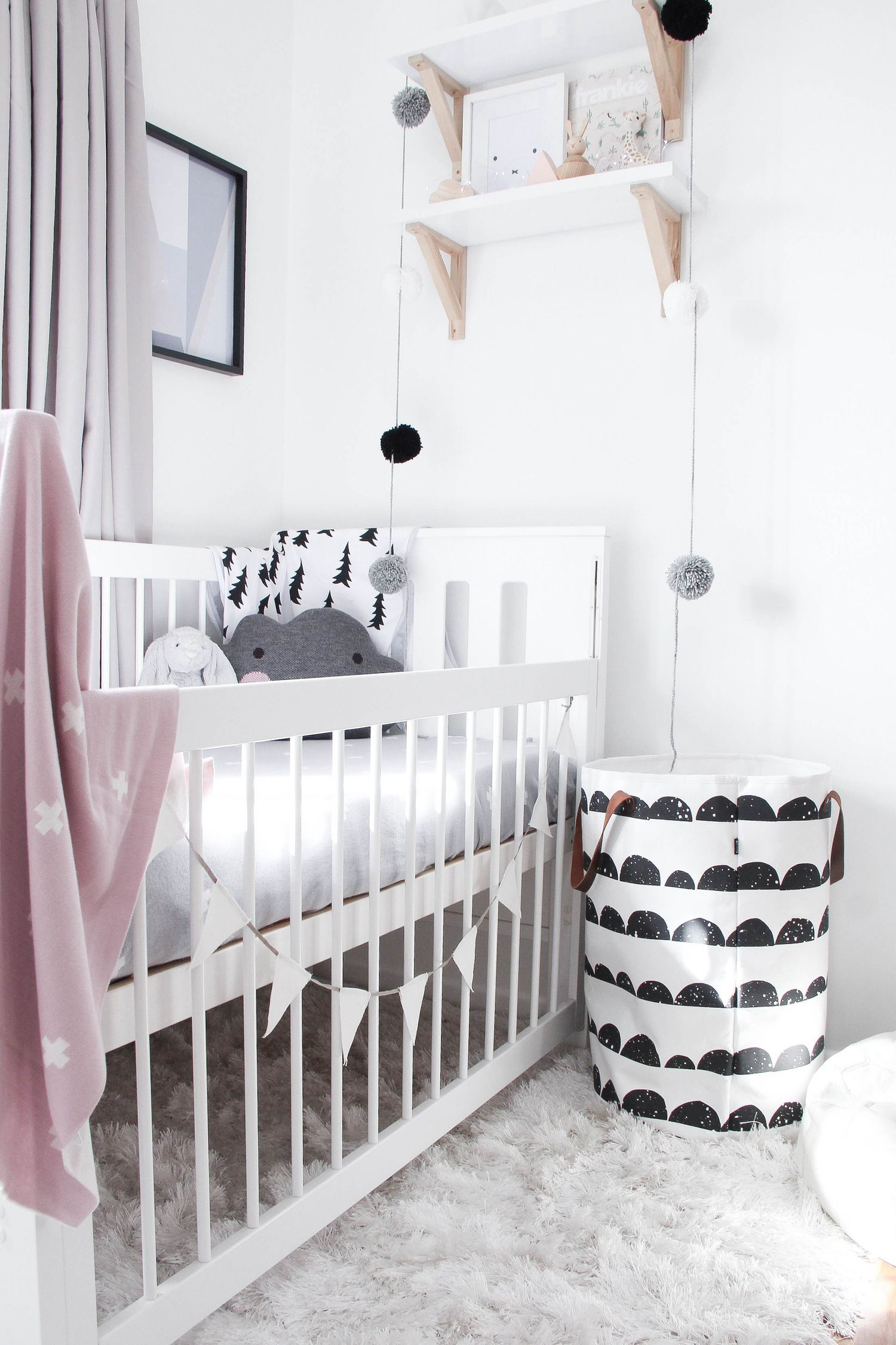 Тур в номер @BlondeandBone-мини стиль | Kid Room Decor, White Nursery, Baby Nursery