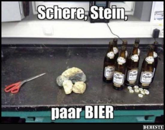 Schere, Stein, paar Bier.. | Lustige Bilder, Sprüche, Witze, echt lustig