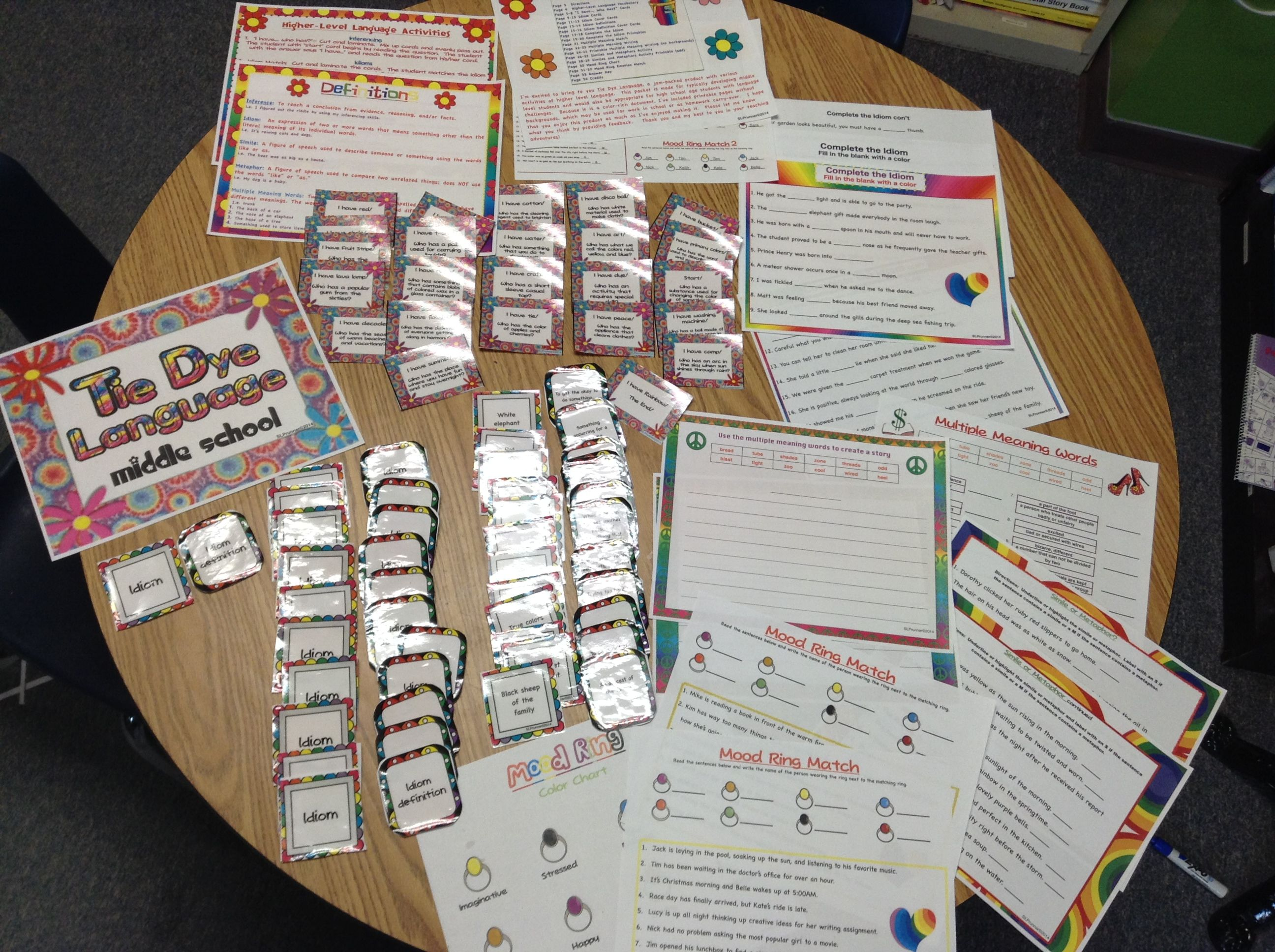 Figurative Language Middle School