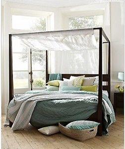 Lombok Lovina Four Poster King Size Bed Bedstead Frame With Canopy Ebay Chic Bedroom Design Home Bedroom Design