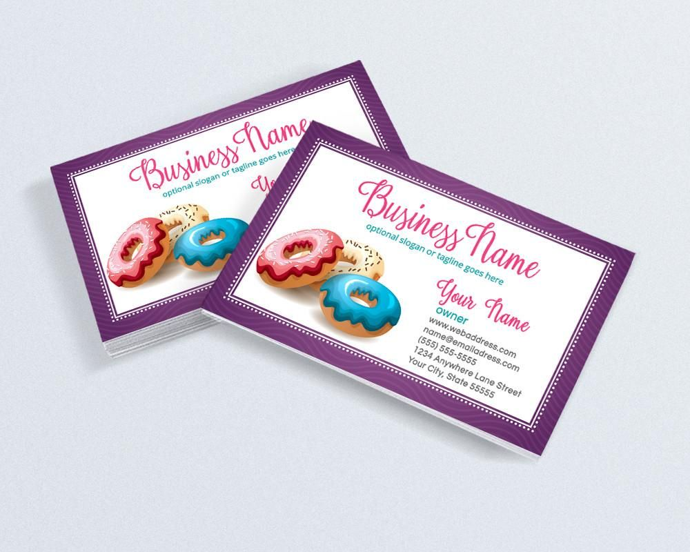 Bakery Business Card Design - Chef Business Card Design - Doughnuts ...