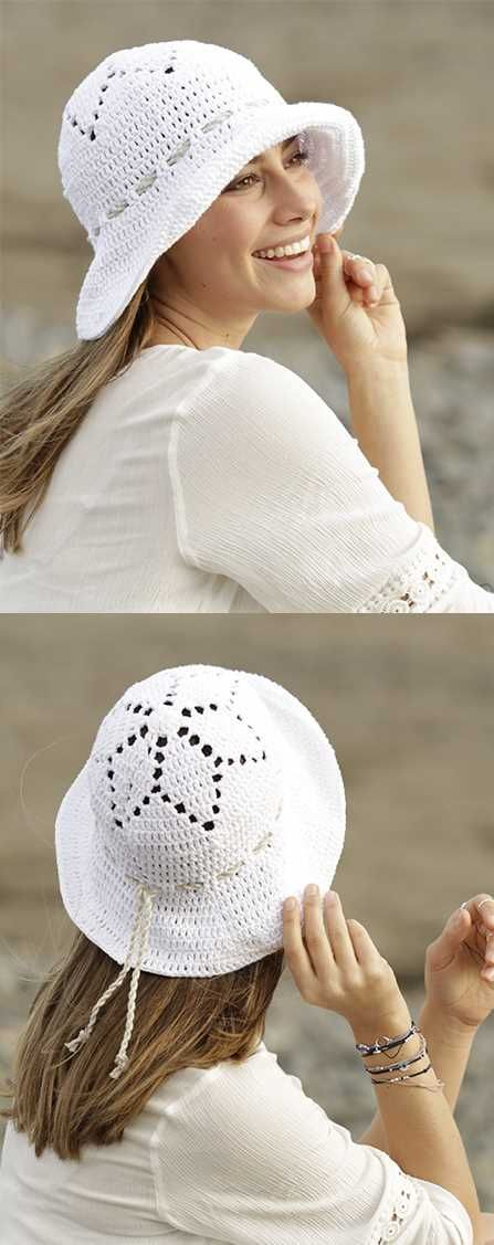 Free Crochet Pattern for a Sunny Smiles Sun Hat | Pinterest | Gorros ...