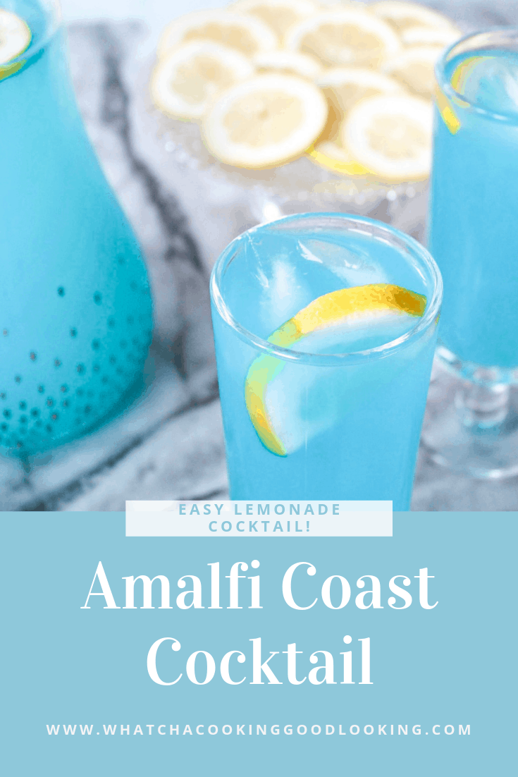 The Amalfi Coast Cocktail is a such a fun lemonade cocktail with vodka and Blue ...