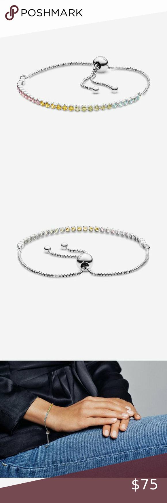 Rainbow Tennis Bracelet Pandora