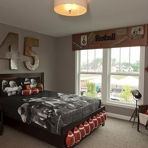 football bedroom decor football themed room eclectic boy s room bia 11546