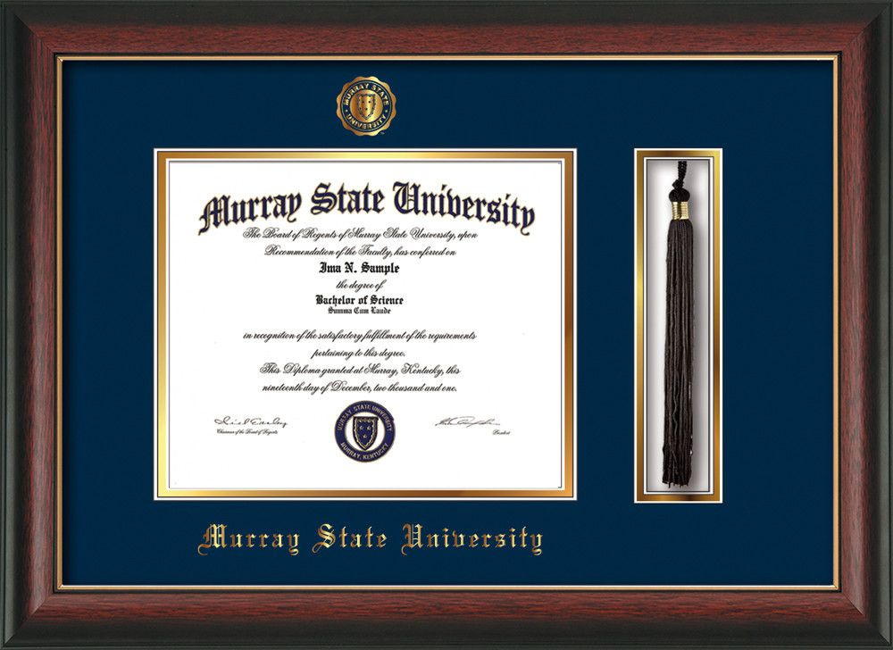 Murray State University Diploma Frame - Rosewood w/Gold Lip - w ...