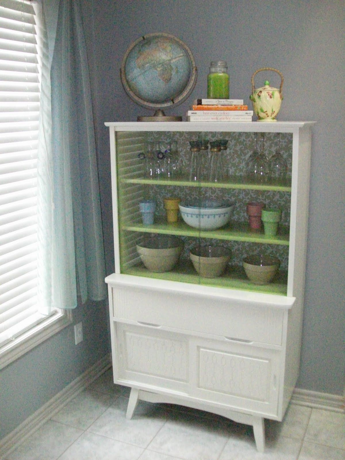 A great after shot of a mid century china cabinet which is close to