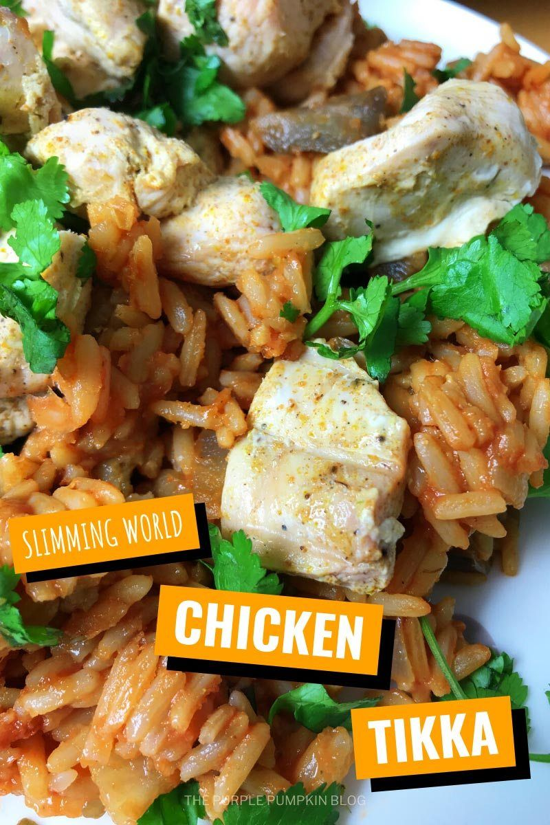 extra easy chicken tikka aubergine rice pilaf slimming world friendly recipe in 2020 chicken tikka easy dinner recipes chicken recipes pinterest