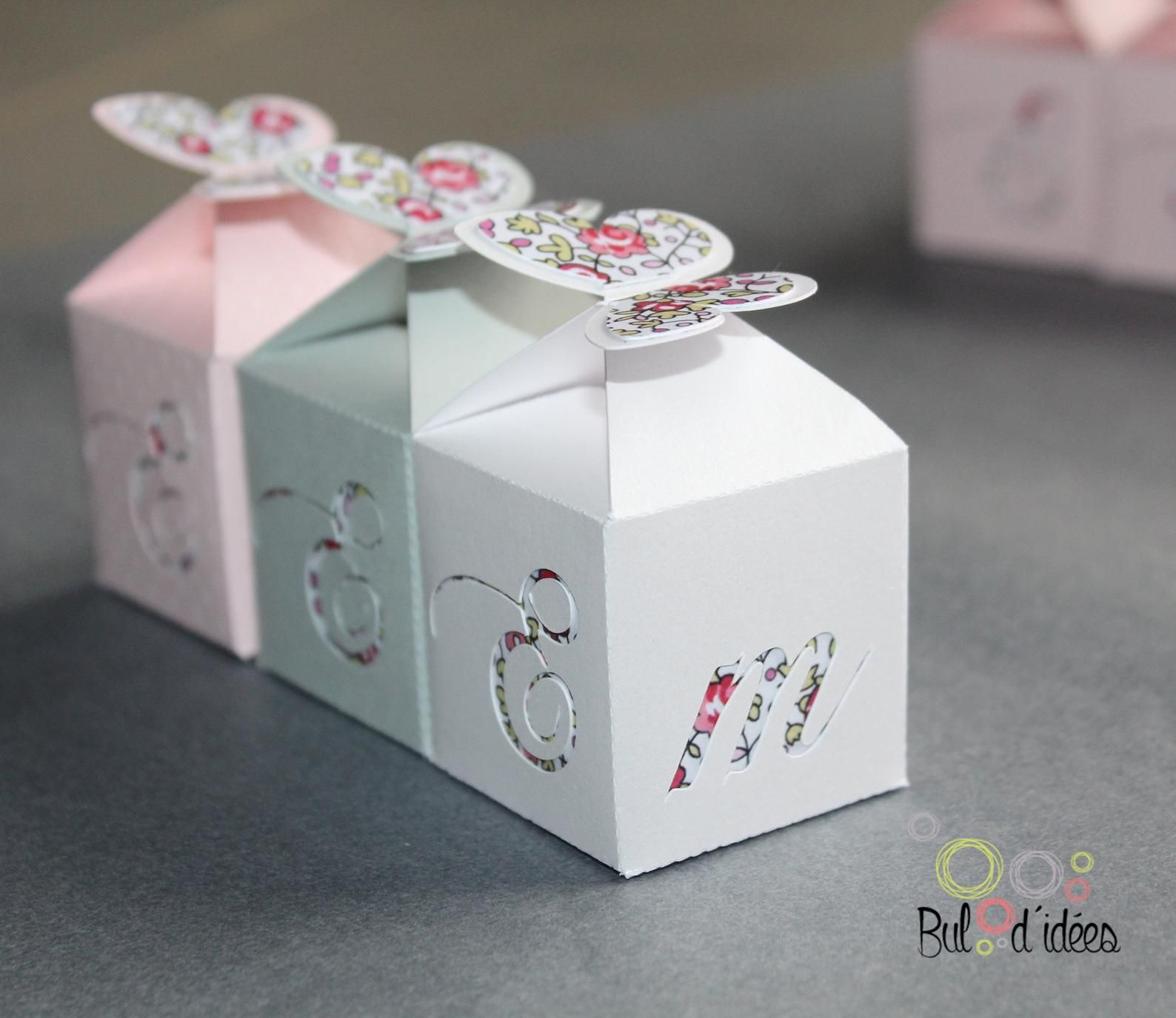 Butterfly Liberty Candy Box Baptism Containers Gifts For Guests In 2020 Gifts Homemade Cards Candy Boxes
