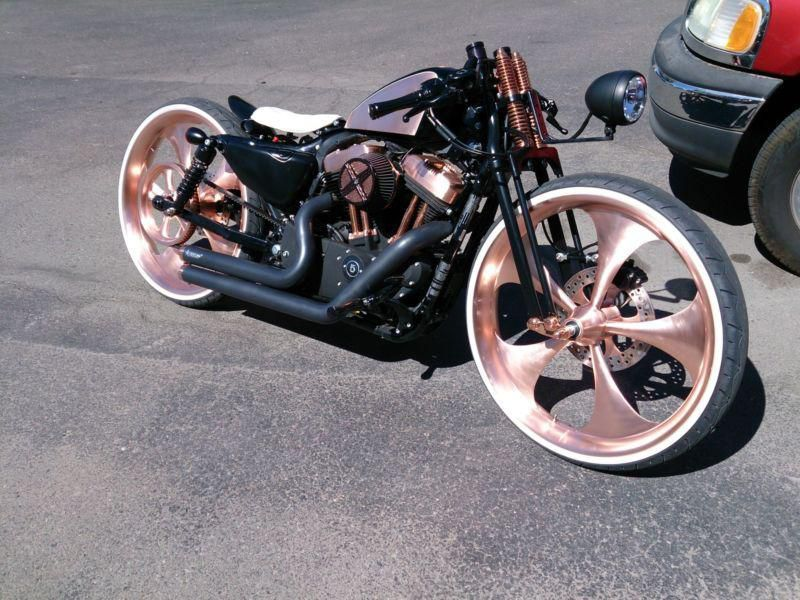 Used Harley Davidson Wheels >> Custom Harley Sportster On 26 Wheels For Sale On