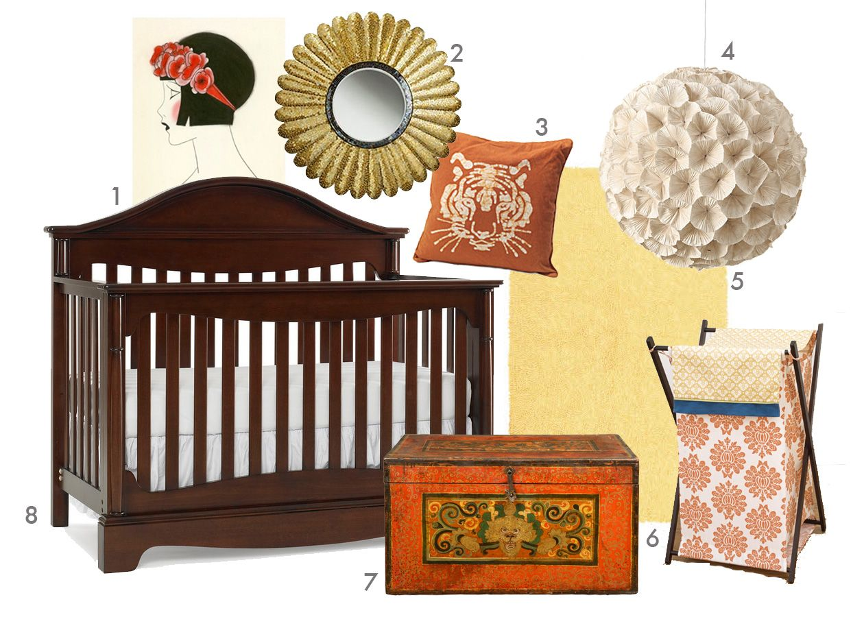 Baby cribs ireland - This Nursery Mood Board Featuring The Pilgrimage Collection Lifestyle Crib From Kathy Ireland Baby Incorporates Classic