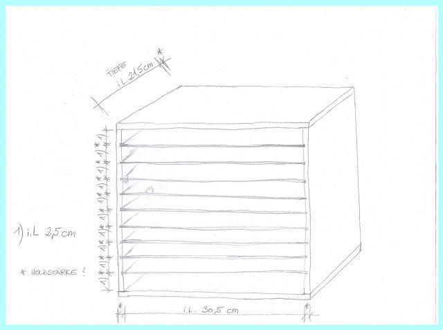 ablage f r cardstock papier in din a4 creative depot bastelecke karten diy basteln und. Black Bedroom Furniture Sets. Home Design Ideas
