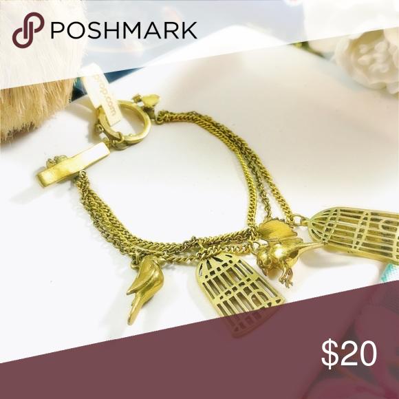Gold bird Bracelet Gold plate chain bracelet Jewelry Bracelets