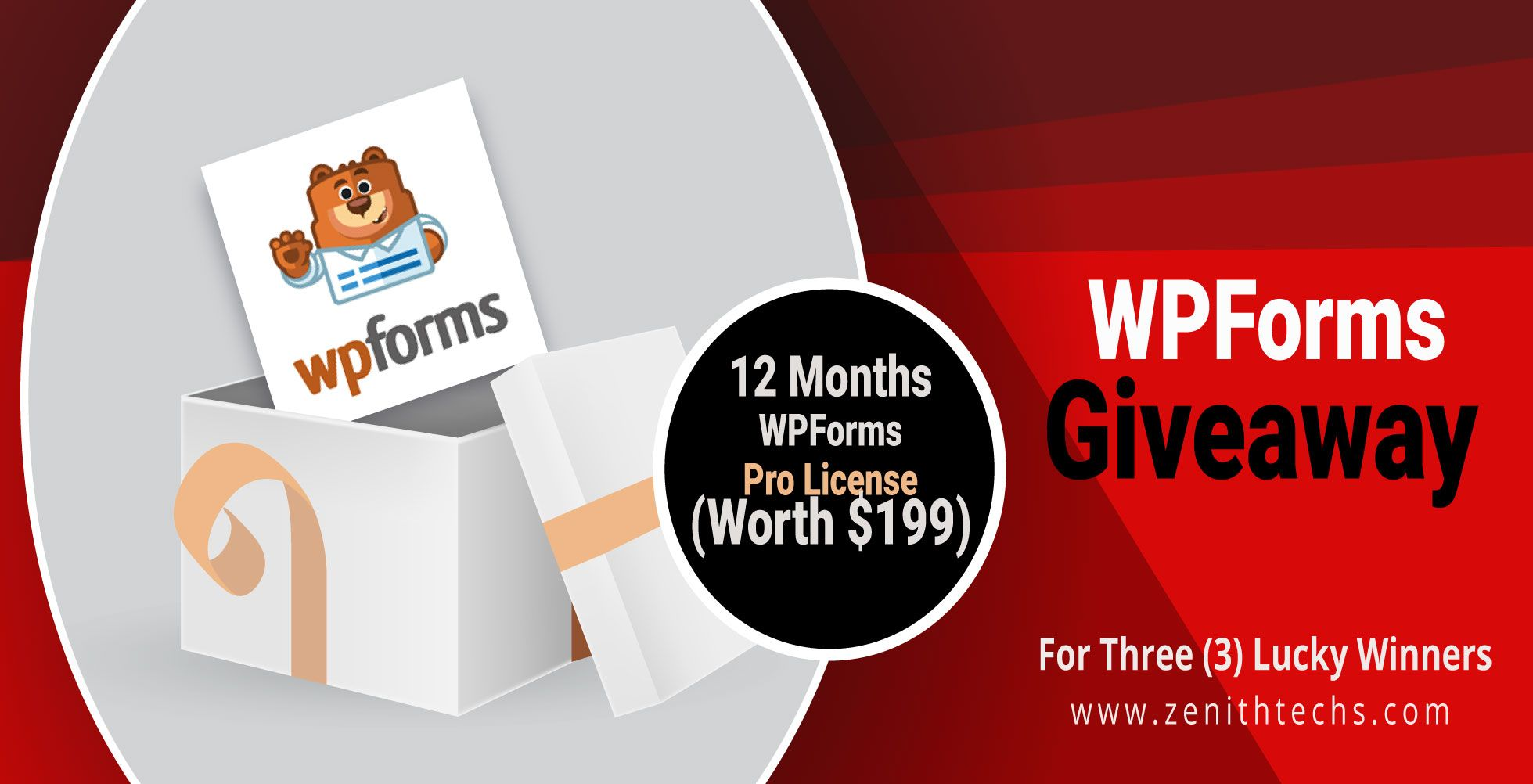 WPForms Best Form Builder For WordPress Giveaway Win Pro