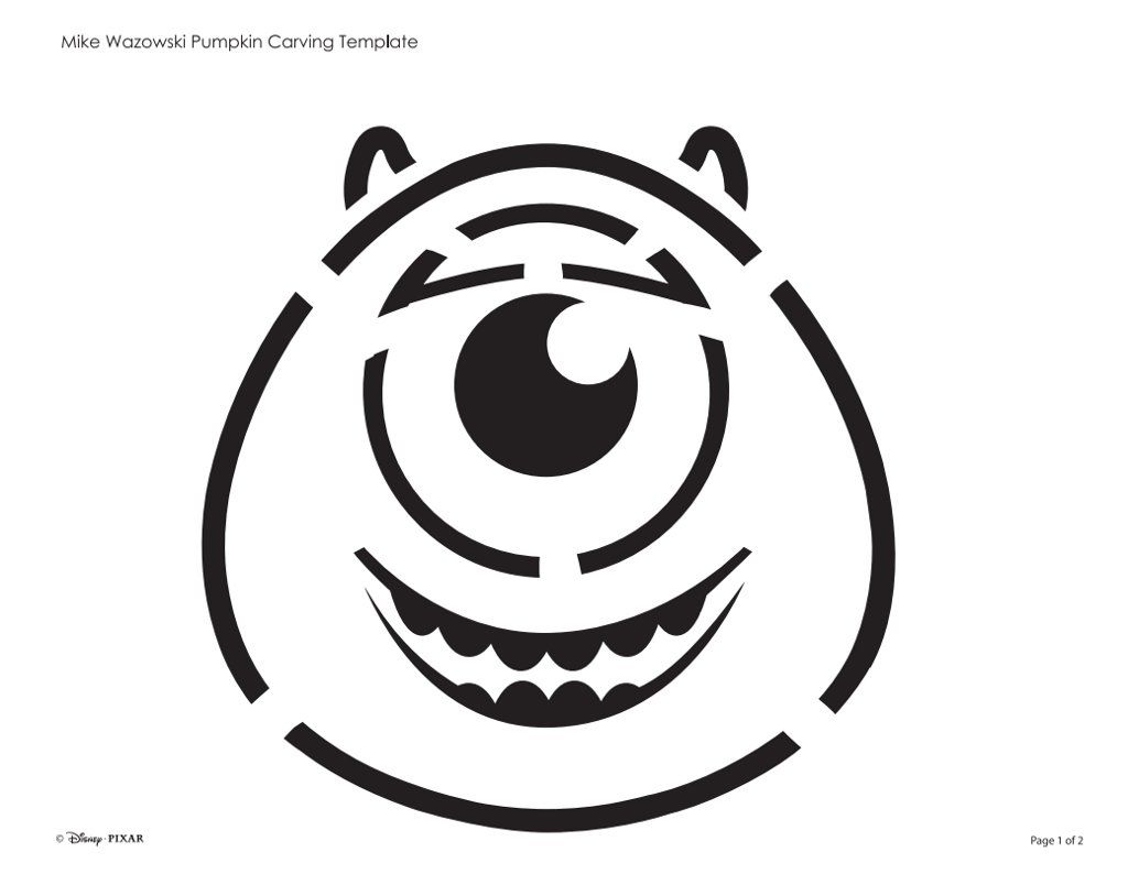 22 Disney Pumpkin Stencils You Can Print For Free