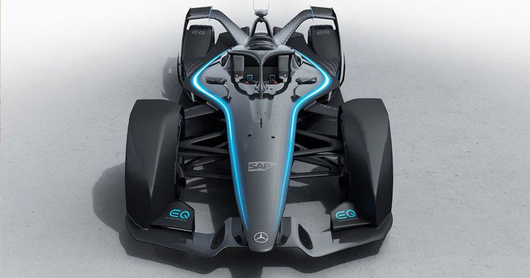 Mercedes Benz First All Electric Racecar Is Equipped Like A Beast Futurism Race Cars Benz S Benz