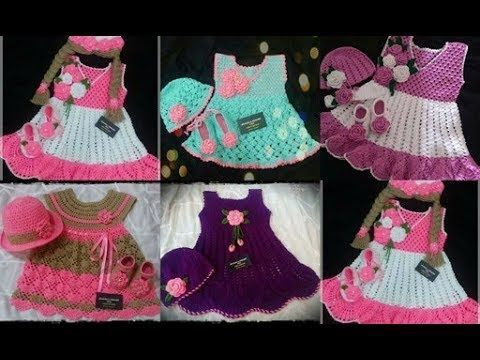 8906912e7c20 Beautiful hand made crochet baby Dresses//With Adress - YouTube ...