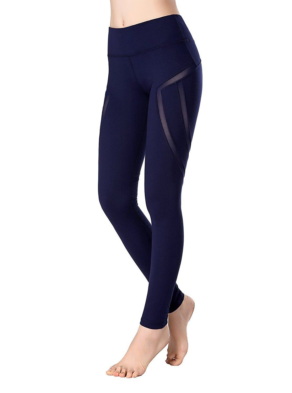 8fd22116d4e7f Womens Girls Tights Mesh Panels Stretchy Yoga Fitness Running Leggings Pants  Price: $7.99